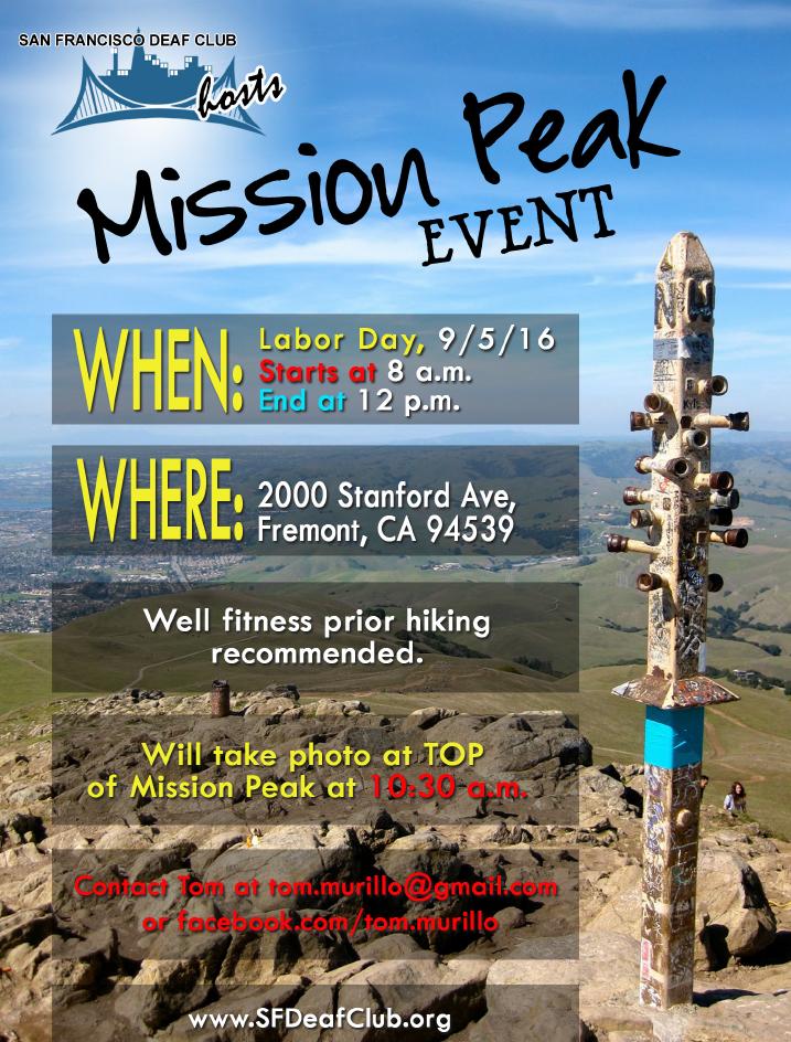 SFDC - Mission Peak 2016