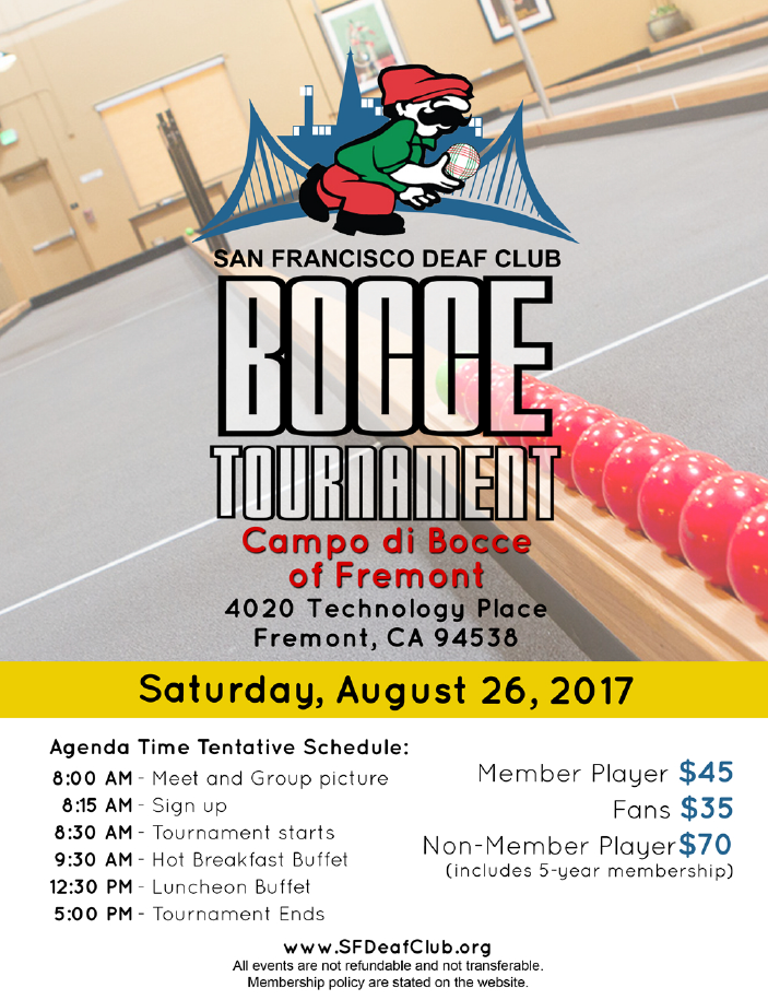 SFDC - Bocce Tournament - August 26 @ Campo di Bocce of Fremont | Fremont | California | United States